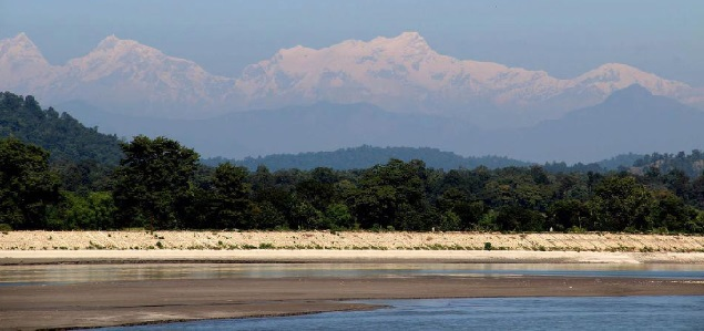 Snow Clad Himalayas at Valmiki Tiger Reserve