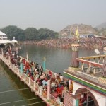 Lakshmi and Vishnu Temples inside Mandar Lake Banka