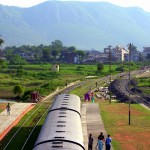 Rajgir Railway Station with Hills in Background
