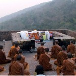 Buddhist Monks at Vulture Peak Rajgir