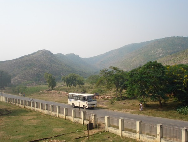 View of Rajgir Hills from Jarasandha Akhada