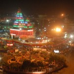 View of Mahavir Mandir Patna at Night