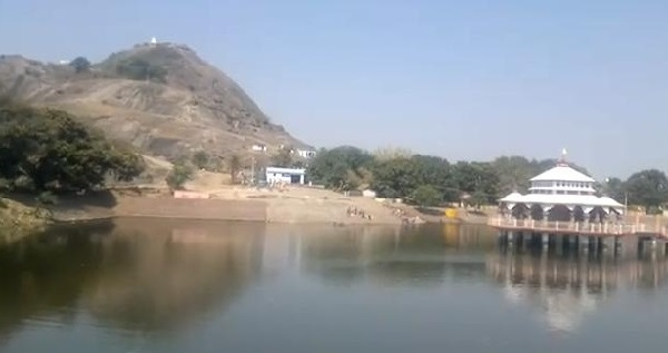 Mandar Hill and the Lake at Bounsi Banka